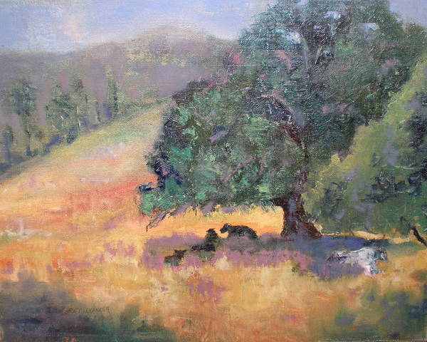 Landscape Art Print featuring the painting Made In The Shade by Bryan Alexander