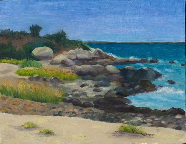 Landscape Art Print featuring the painting Meigs Point by Paula Emery