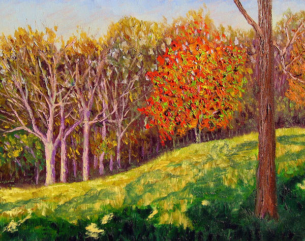 Landscape Art Print featuring the painting Mooresville 10 11 by Stan Hamilton