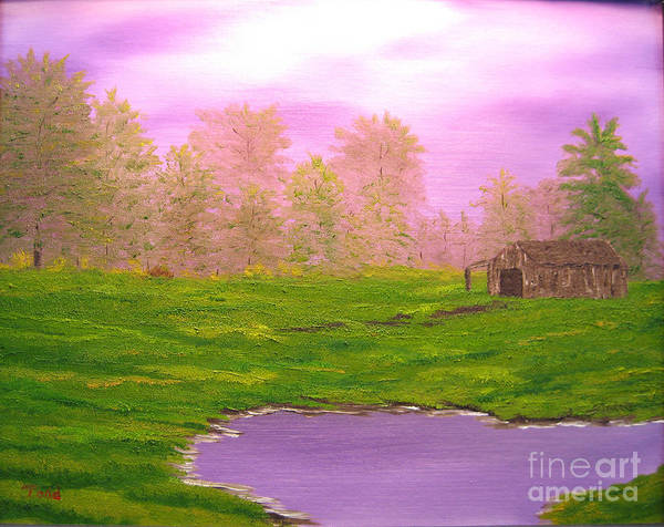 Lanscape Art Print featuring the painting Morning Storm by Todd Androy
