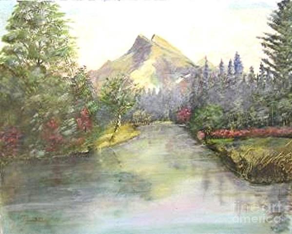 Landscape Painting Art Print featuring the painting Mt Bundle by Nicholas Minniti