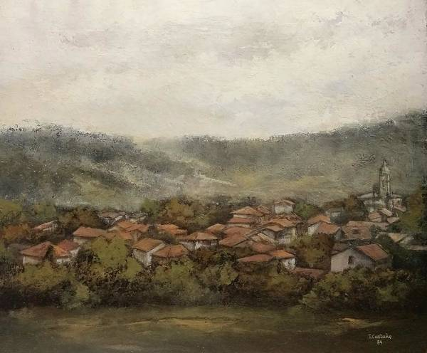 Cantabria Art Print featuring the painting Novales-Cantabria by Tomas Castano