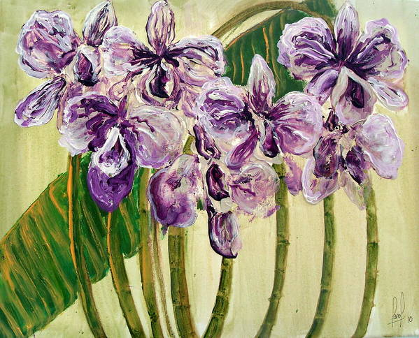 Art Print featuring the painting Orchids by Carol P Kingsley