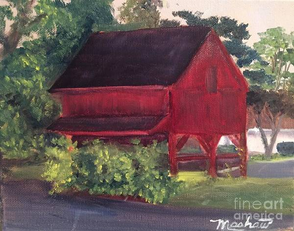 Medford Art Print featuring the painting Plein Aire 7-12-16 by Sheila Mashaw