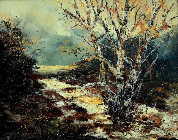 Tree Art Print featuring the painting Poplars 45 by Pol Ledent