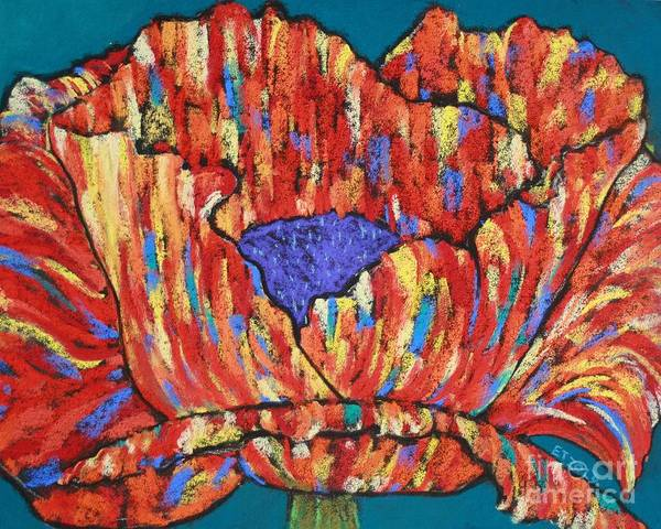 Poppy Art Print featuring the painting Poppy2 by Melinda Etzold