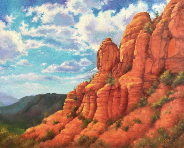 Sedona Art Print featuring the painting Red Rocks by Teri Rosario