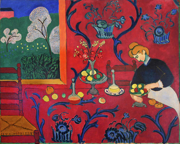 Henri Matisse Art Print featuring the painting Red Room by Henri Matisse