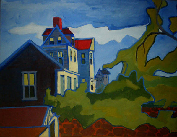 Buildings Art Print featuring the painting Sarah Paul by Debra Bretton Robinson