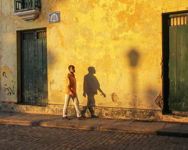 Cuba Art Print featuring the photograph Shadow Walking by Marla Craven