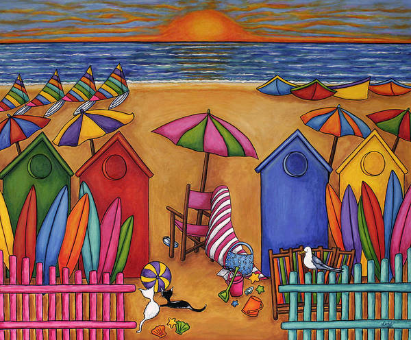 Summer Art Print featuring the painting Summer Delight by Lisa Lorenz