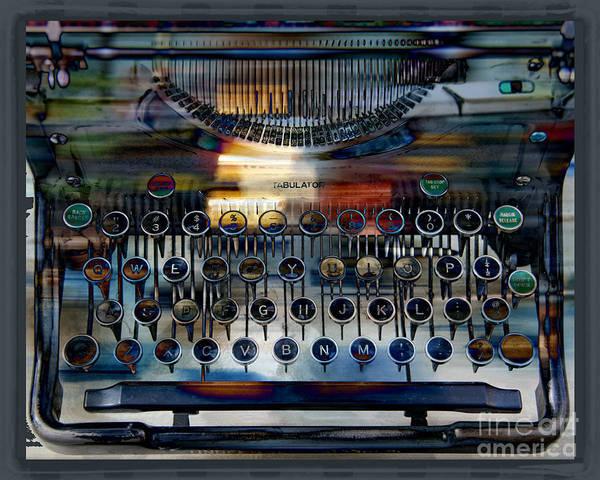 Typewriter Art Print featuring the digital art Tabulator by Chuck Brittenham