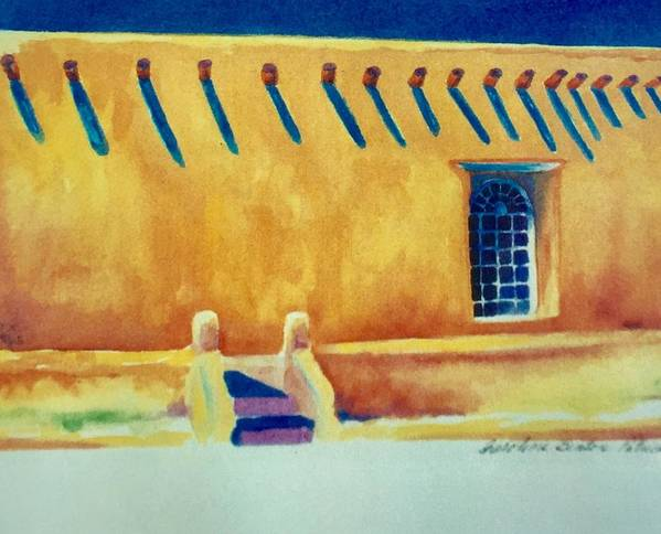Taos Noon Art Print featuring the painting Taos Noon by Caroline Patrick