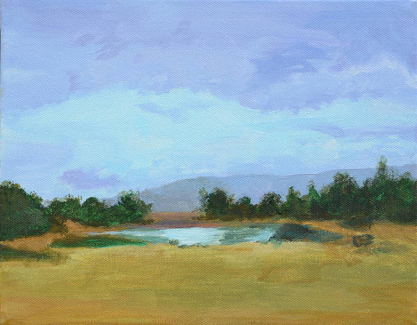 Landscape Art Print featuring the painting The Big Thaw by Mary Chant