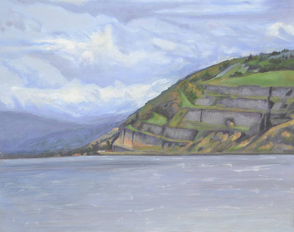 The Columbia River Gorge Art Print featuring the painting Heart of the Gorge by Mary Chant