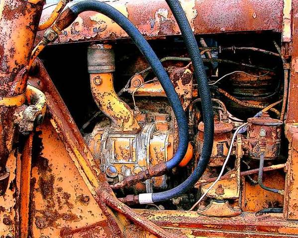 Photography Art Print featuring the photograph The Old Tractor by Linda Carroll