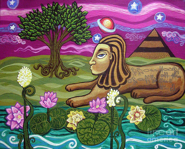 Egypt Art Print featuring the painting The Sphinx by Genevieve Esson