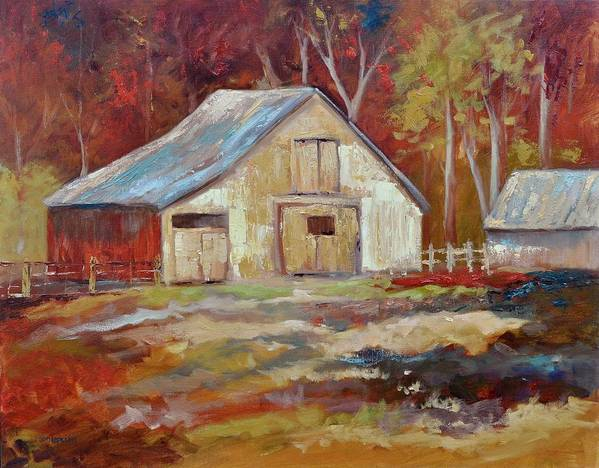 Barns Art Print featuring the painting The Studio by Ginger Concepcion