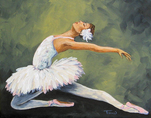 Ballet Art Print featuring the painting The Swan III by Torrie Smiley