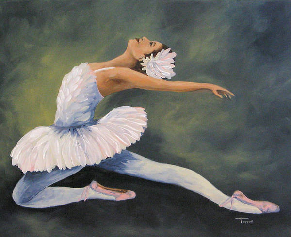 Ballerina Art Print featuring the painting The Swan IV by Torrie Smiley
