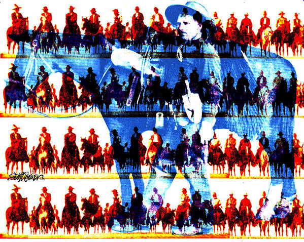 Cowboys Art Print featuring the digital art The Tenderfoot by Seth Weaver