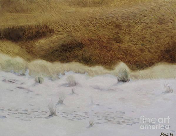 Nida Art Print featuring the painting Tiger Dune by Raimonda Jatkeviciute-Kasparaviciene