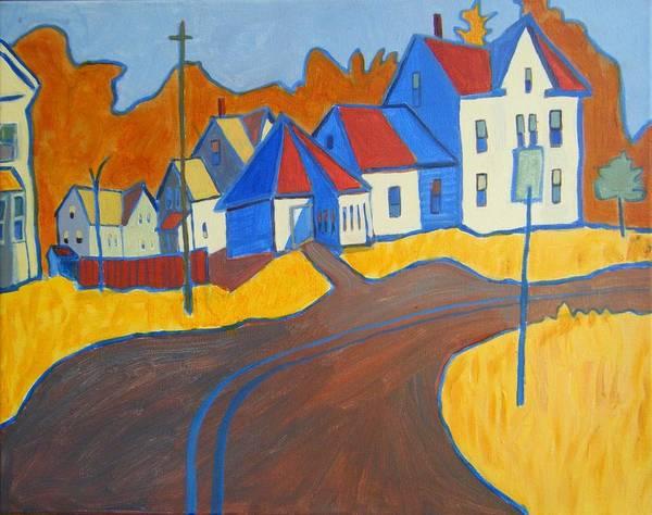 Buildings Art Print featuring the painting Town Center Plaistow NH by Debra Bretton Robinson