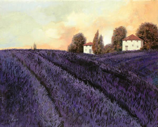 Lavender Art Print featuring the painting Tutta lavanda by Guido Borelli