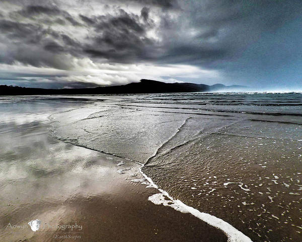 Beach Art Print featuring the photograph Two Skies by Stephanie McGuire