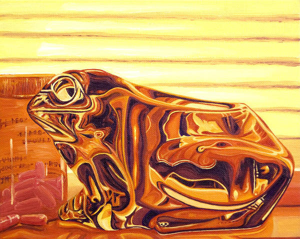 Frog Art Print featuring the painting Untitled by Judy Henninger