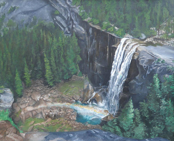 Yosemite Art Print featuring the painting Vernal Fall by Travis Day