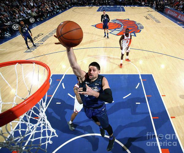 Nba Pro Basketball Art Print featuring the photograph Orlando Magic V New York Knicks by Nathaniel S. Butler