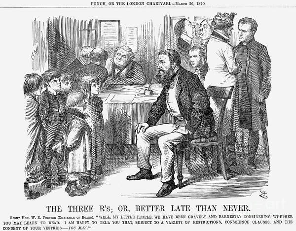 Engraving Art Print featuring the drawing The Three Rs Or, Better Late Than by Print Collector