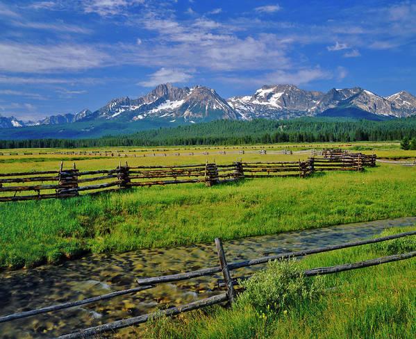 Scenics Art Print featuring the photograph Sawtooth Mountain Range, Idaho by Ron thomas
