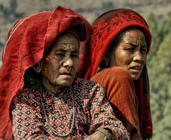 Nepal Art Print featuring the photograph Women Of Nepal - Series by Yvette Depaepe
