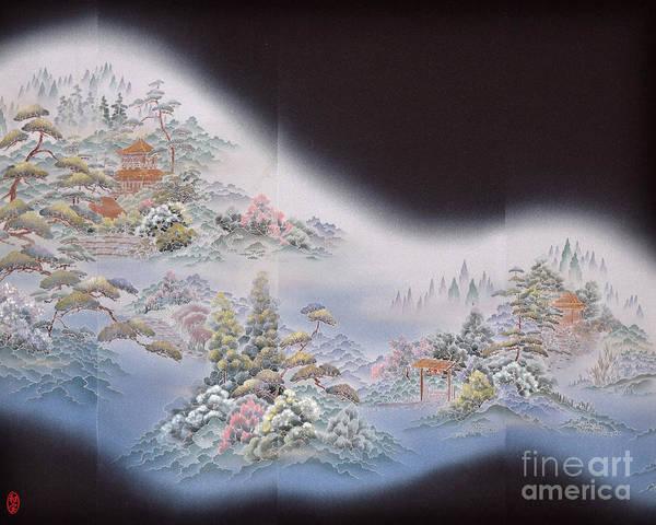 Art Print featuring the digital art Spirit of Japan T64 by Miho Kanamori