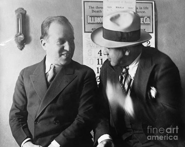 People Art Print featuring the photograph Al Capone And Benjamin Epstein by Bettmann