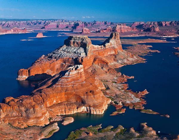 Tranquility Art Print featuring the photograph Alstrom Point, Lake Powell by Gleb Tarro