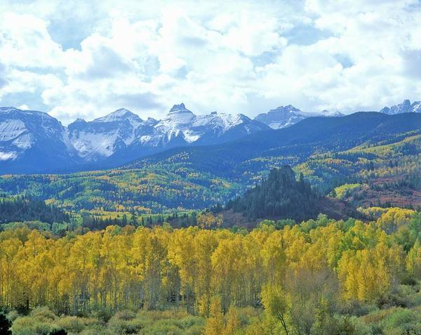 Scenics Art Print featuring the photograph Autumn Colors In The Sneffels Mountain by Visionsofamerica/joe Sohm