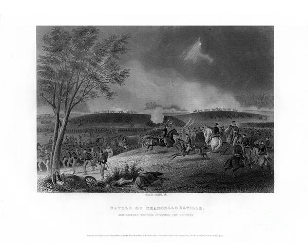 Engraving Art Print featuring the drawing Battle Of Chancellorsville, Fought by Print Collector