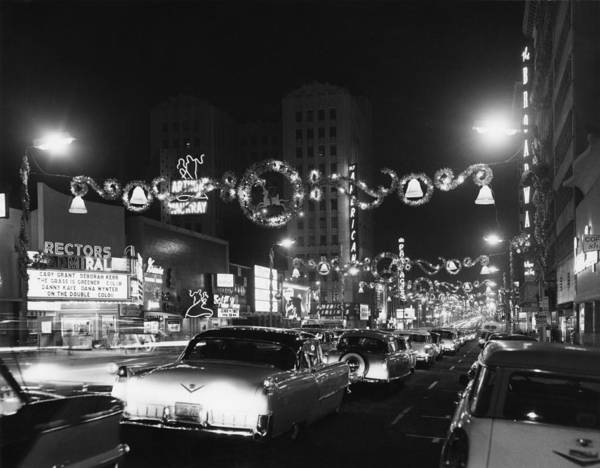Hollywood Boulevard Art Print featuring the photograph Christmas In Hollywood by American Stock Archive