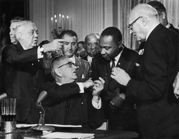 Civil Rights Act Art Print featuring the photograph Civil Rights Bill by Hulton Archive