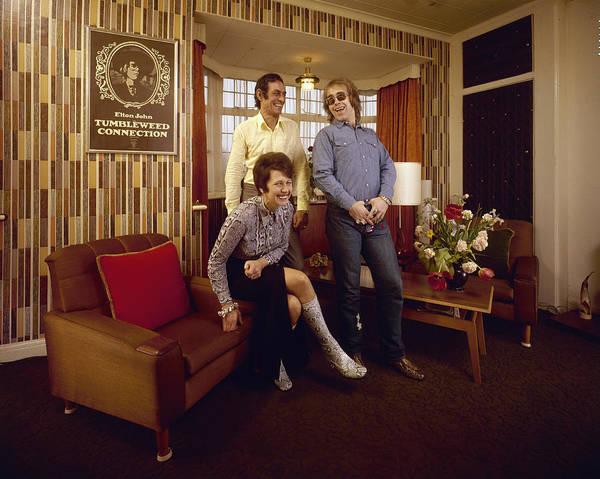 Singer Art Print featuring the photograph Elton John At Home by John Olson