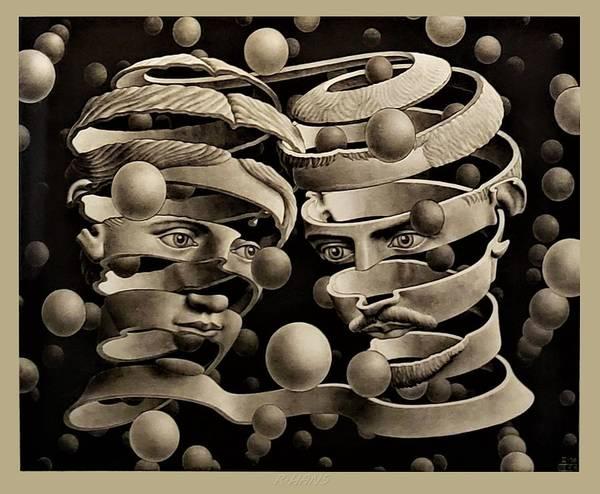 Maurits Cornelis Escher Art Print featuring the photograph Escher 109 by Rob Hans
