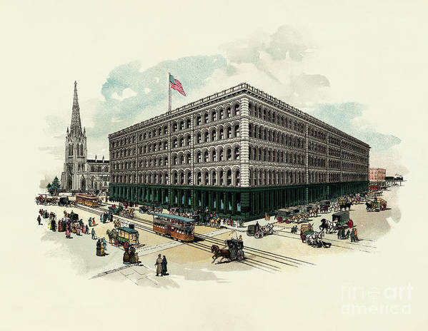 East Art Print featuring the photograph Exterior Of A T Stewart Department Store by Bettmann