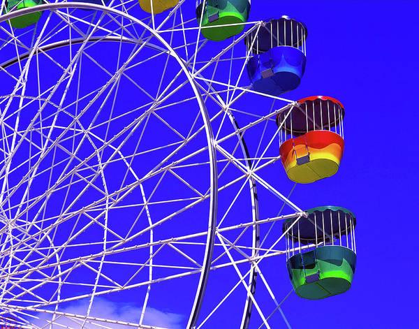 Outdoors Art Print featuring the photograph Ferris Wheel, Sydney, Australia by Hans-peter Merten