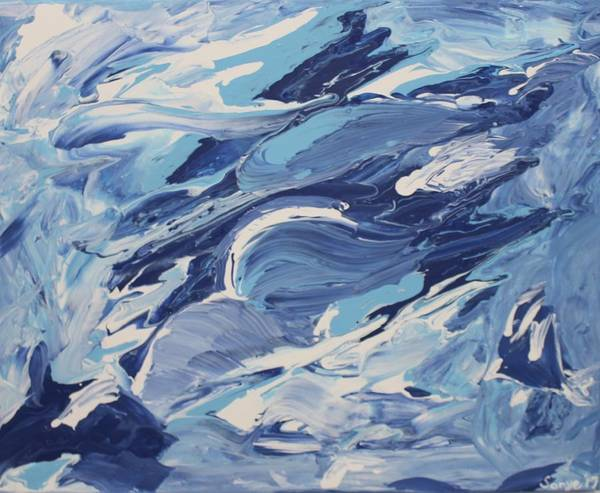 Water Art Print featuring the painting Formless Edition 3 by Sonye Locksmith