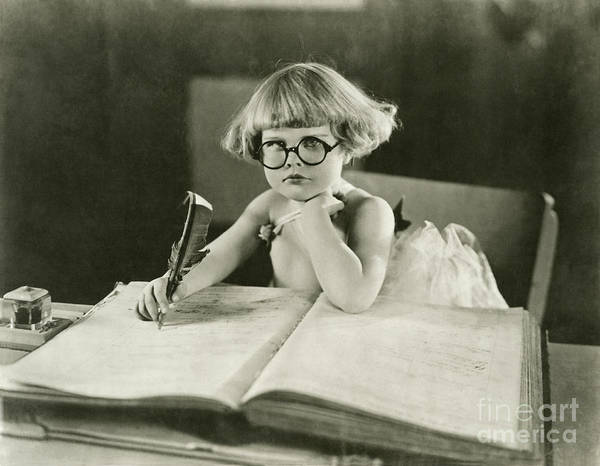 Innocence Art Print featuring the photograph Future Writer by Everett Collection