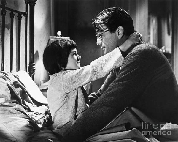 Child Art Print featuring the photograph Gregory Peck And Mary Badham In To Kill by Bettmann