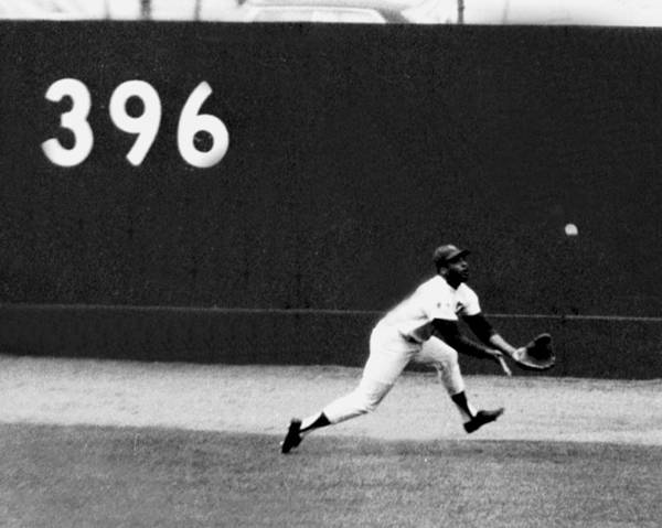 American League Baseball Art Print featuring the photograph In One Of The Greatest Exhibitions By by New York Daily News Archive